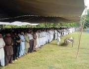 فیصل آباد: نامعلوم افراد کی فائرنگ سے شہید ہونے والے الائیڈ ہسپتال ..