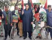 اسلام آباد: چیئرمین پاکستان پیپلز پارٹی بلاول بھٹو زرداری سائیکلسٹس ..