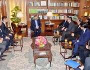 کراچی: گورنر سندھ محمد زبیر گورنر ہاؤس مٹسو بیشی انرجی گروپ کے چیف ایگزیکٹو ..