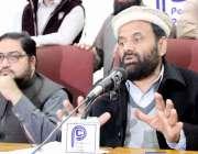 پشاور: جماعت اسلامی کے ڈپٹی جنرل سیکرٹری بہر اللہ ایڈووکیٹ پریس کانفرنس ..