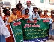 حیدر آباد: پیس کونسل پاکستان کی طرف سے اپنے مطالبات کے سلسلے میں احتجاجی ..