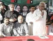 کراچی: پاکستان پیپلز پارٹی سیکرٹریٹ میں منارٹی کے الیکشن کے موقع پر ..