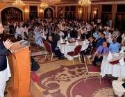 کراچی: گورنر سندھ محمد زبیر سماجی یونائیٹڈ میمن جماعت کی تقریب سے خطاب ..