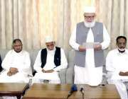لاہور: جماعت اسلامی کے سیکرٹری جنرل لیاقت بلوچ منصورہ میں قائمقام امیر ..