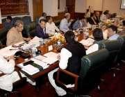 کراچی: وزیر اعلیٰ سندھ سید مراد علی شاہ وزیر اعلیٰ ہاؤس میں سی سی آئی ..
