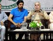 راولپنڈی: میئر سردار نسیم پریس کلب میں میٹ دی پریس سے خطاب کر رہے ہیں۔