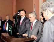 اسلام آباد: وفاقی وزیر خزانہ سینیٹر اسحاق ڈار پارلیمنٹیرینز ٹیکس ڈائریکٹری ..