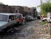 راولپنڈی: تھانہ پیر ودھائی کے علاقہ میں مبینہ چوری کی گاڑی کے کام کا ..