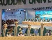کراچی: وزیر اعلیٰ سندھ سید مراد علی شاہ و دیگر ضیاء الدین یونیورسٹی ..