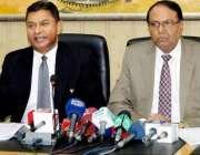 لاہور:سیکرٹری سپورٹس پنجاب نیئراقبال اور ڈی جی سپورٹس پنجاب ذوالفقار ..