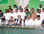 لاہور: مسلم لیگ (ق) پنجاب کے جنرل سیکرٹری چودھری ظہیرالدین (ن) لیگ کے ..