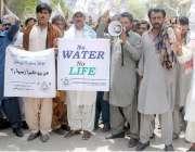 حیدر آباد: سندھ آباد گار تنظیم کی طرف سے پانی کی عدم فراہمی کے خلاف مظاہرہ ..