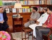 کراچی: گورنر سندھ محمد زبیر گورنر ہاؤس میں راؤ محمد رفیق کی سربراہی ..