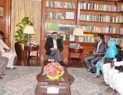 کراچی: راشد سردار کی سربراہی میں پاک ماہی گیر کا وفد گورنر سندھ محمد ..