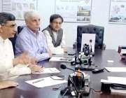 لاہور: صوبائی وزیر سپیشلائزڈ ہیلتھ کیئر اینڈ میڈیکل ایجوکیشن خواجہ ..