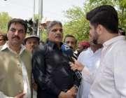 اسلام آباد: وفاقی وزیر امور کشمیر چوہدری برجیس طاہر میڈیا سے گفتگو ..