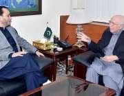 اسلام آباد: ڈپٹی چیئرمین پلاننگ کمیش سرتاج عزیز سے وزیراعلیٰ گلگت بلتستان ..
