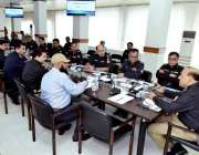 کراچی: آئی جی سندھ اے ڈی خواجہ سینٹرل پولیس آفس کراچی میں اپیکس فالو ..