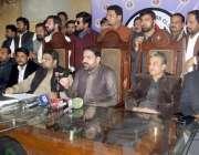 لاہور: صوبے کے مختلف اضلاع کے وائس چیئرمینوں کے اتحاد کے صدر ڈاکٹر سردار ..