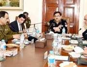 لاہور: انسپکٹر جنرل پولیس پنجاب کیپٹن (ر) عارف نوازخان سنٹرل پولیس آفس ..