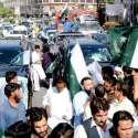 لاہور: پاکستان زندہ باد موومنٹ کے زیر اہتمام پاک فوج کے حق میں ریلی نکالی جا رہی ہے۔