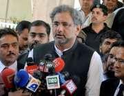 راولپنڈی: سابق وزیراعظم شاہد خاقان عباسی اپلیٹ ٹریبونل سماعت کے بعد ..