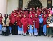 لاہور: نظریہ پاکستان ٹرسٹ کے دورہ پر آئی گورنمنٹ گرلز ہائی سکول برج ..