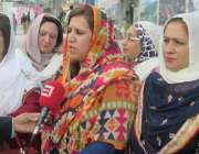 مظفر آباد: سابق صدر پیپلز پارٹی خواتین ونگ مظفر آباد شگفتہ نورین میڈیا ..
