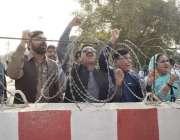 لاہور: پنجاب اسمبلی میں داخلے پرپابندی کا شکار (ن) لیگ کے اراکین اسمبلی ..