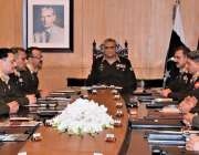 راولپنڈی: آرمی چیف جنرل قمر جاوید باجوہ کور کمانڈرز کانفرنس کی صدارت ..