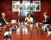 کراچی: نگران صوبائی وزیر خزانہ شمشاد اختر پاکستان بزنس کونسل کے ممبران ..