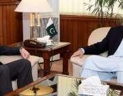 اسلام آباد: سپیکر قومی اسمبلی اسد قیصر سے وزیر خارجہ شاہ محمود قریشی ..