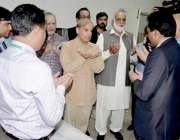لاہور: وزیراعلیٰ پنجاب محمد شہباز شریف ہیڈ کوارٹر ہسپتال چکوال میں ..