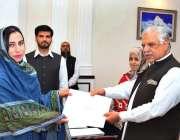 پشاور: گورنر خیبر پختونخوا اقبال ظفر جھگڑا ماسٹر ٹریننگ کورس کے اختتام ..