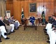 اسلام آباد: صدر مملکت ڈاکٹر عارف علوی سے ایم این اے سیف الرحمن کی قیادت ..