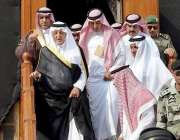 مکہ مکرمہ: گورنر مکہ مکرمہ شہزادہ خالد الفیصل کعبہ مشرفہ کو غسل دینے ..