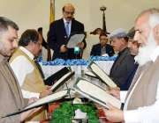 مظفر آباد: صدر آزاد کشمیر سردار مسعود خان کابینہ میں شامل ہونیوالے ..