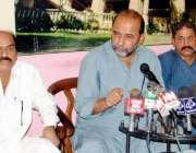 حیدر آباد: سندھ یونائیٹڈ پارٹی کے سربراہ سید جلال محمود شاہ پریس کانفرنس ..