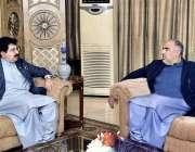 اسلام آباد: قائمقام صدر محمد صادق سنجرانی سے سپیکر قومی اسمبلی اسد ..