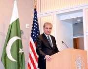 واشنگٹن: وزیر خارجہ مخدوم شاہ محمود قریشی یونائیٹڈ سٹیٹ انسٹیٹیوٹ ..