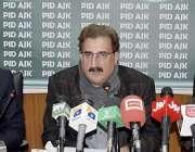 مظفر آباد: آزاد کشمیر کے وزیر اطلاعات مشتاق احمد منہاس کابینہ کی ترقیاتی ..
