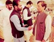 لاہور: آغا حسین شاہ کی صاحبزاری کی شادی کی تقریب میں مسلم لیگ (ن) کے رہنما ..
