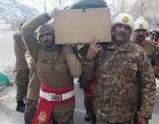 گلگت: کمانڈر ایف سی اے میجر جنرل ثاقب محمود ملک گیانگ سیکٹر میں برفانی ..