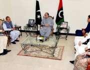 اسلام آباد: آصف علی زرداری اور بلاول بھٹو سے ناصر عباس تارڑ ملاقات کر ..