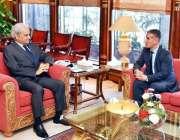 اسلام آباد: نگران وزیراعظم جسٹس (ر) سے آذربائی جان کے سفیر علی فکرت اوگلو ..