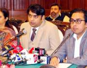لاہور: صوبائی وزیر ہائر ایجوکیشن و سیاحت راجہ یاسر ہمایوں سرفراز پریس ..