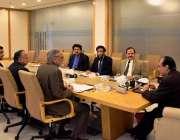 اسلام آباد: چیئرمین نیب جاوید اقبال اعلیٰ سطحی اجلاس کی صدارت کر رہے ..
