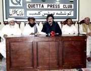 کوئٹہ: پی بی اور جمعیت علماء اسلام (س) کی مشترکہ پریس کانفرنس سے منظور ..