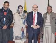 مظفر آباد: صدر آزاد کشمیر سردار مسعود خان کا مسیحی برادری کے وفد کے ..