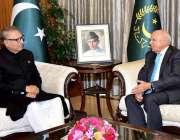 اسلام آباد: صدر مملکت ڈاکٹر عارف علوی سے چیئرمین بیسٹ وے گروپ انور پرویز ..